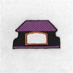 House Puzzle Top embroidery design