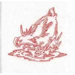 RW Hen embroidery design