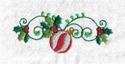 Holly Ornament embroidery design