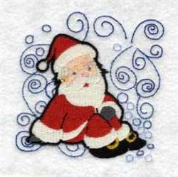 Santa Swirls embroidery design