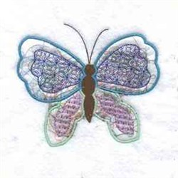 Shimmer Butterfly embroidery design