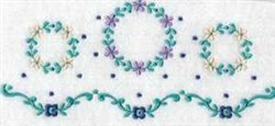 Linen Wreaths embroidery design