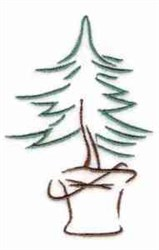 Tree In Pot embroidery design