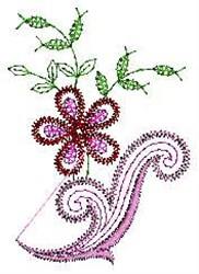 Linen Floral embroidery design