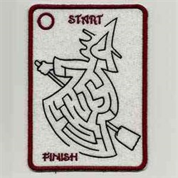 Maze Witch embroidery design
