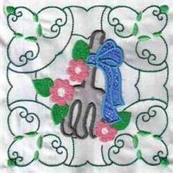 Garden Rake Block embroidery design