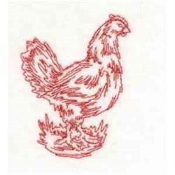 Hen Redwork embroidery design