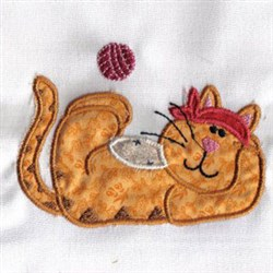 Applique Kitty embroidery design