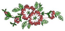 Linen Blooms embroidery design