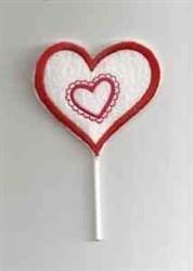 Heart Sucker embroidery design
