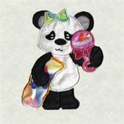 Panda Applique embroidery design