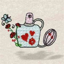 Perfume Bottle embroidery design