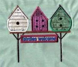Birdies Welcome embroidery design