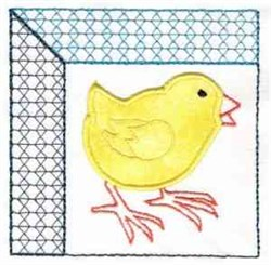 Chick Block embroidery design