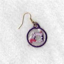 Sewing Machine Earrings embroidery design