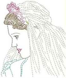 Wedding Woman embroidery design