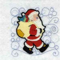Santa With Sack embroidery design
