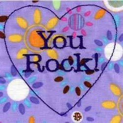 You Rock embroidery design