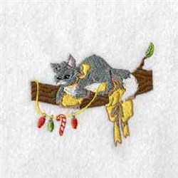 Xmas Cat embroidery design