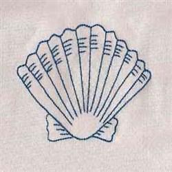 Bluework Seashell embroidery design