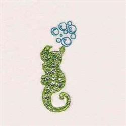 Seahorse Bubbles embroidery design