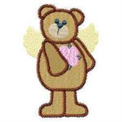 Angel Teddy embroidery design