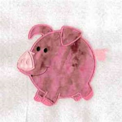 Chubby Pig embroidery design
