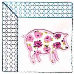 07 pig embroidery design