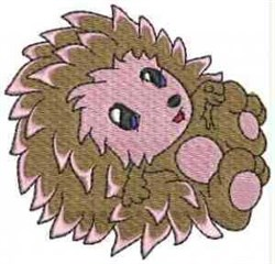 Cartoon Hedgehog embroidery design