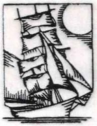 RW Sail Ship embroidery design