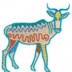 African Antelope embroidery design