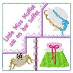 Miss Muffet Quilt embroidery design