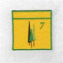 Advent Calendar 7 embroidery design