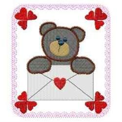 Love Letter Bear embroidery design