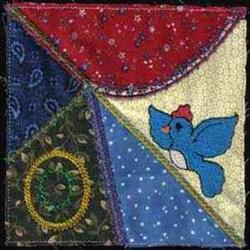 Bird Crazy Quilt embroidery design