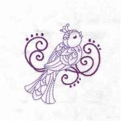 RW Bird embroidery design