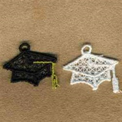 Mortarboard Charms embroidery design