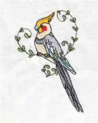 Cockatiel Birds embroidery design