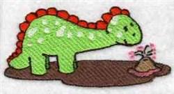 Dino & Volcano embroidery design