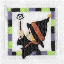 Witch Blokc embroidery design