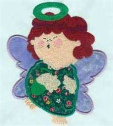 Halo Angel embroidery design