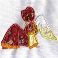 Sunbonnet Angel embroidery design