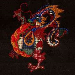 Dragon Applique embroidery design