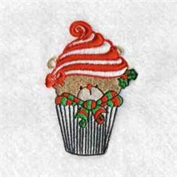 Teddy Cupcake embroidery design