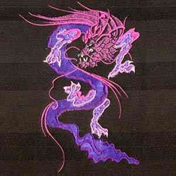 Asian Dragon embroidery design
