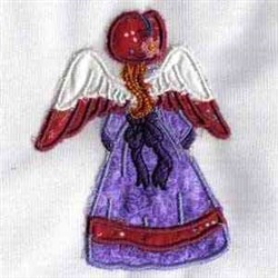Rear View Angel embroidery design