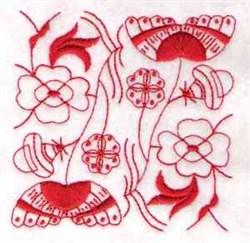 Chinese Indigo Block embroidery design
