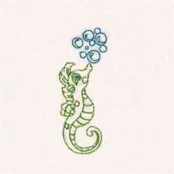 Redwork Seahorse embroidery design