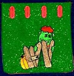 Frankenstein Bag embroidery design