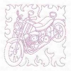 Bike Quilt Block embroidery design